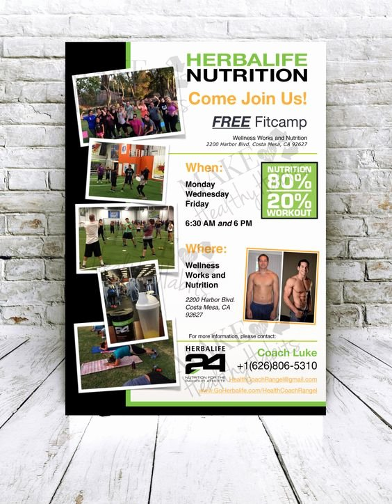 Herbalife Flyer Templates New Herbalife Flyers and Etsy On Pinterest