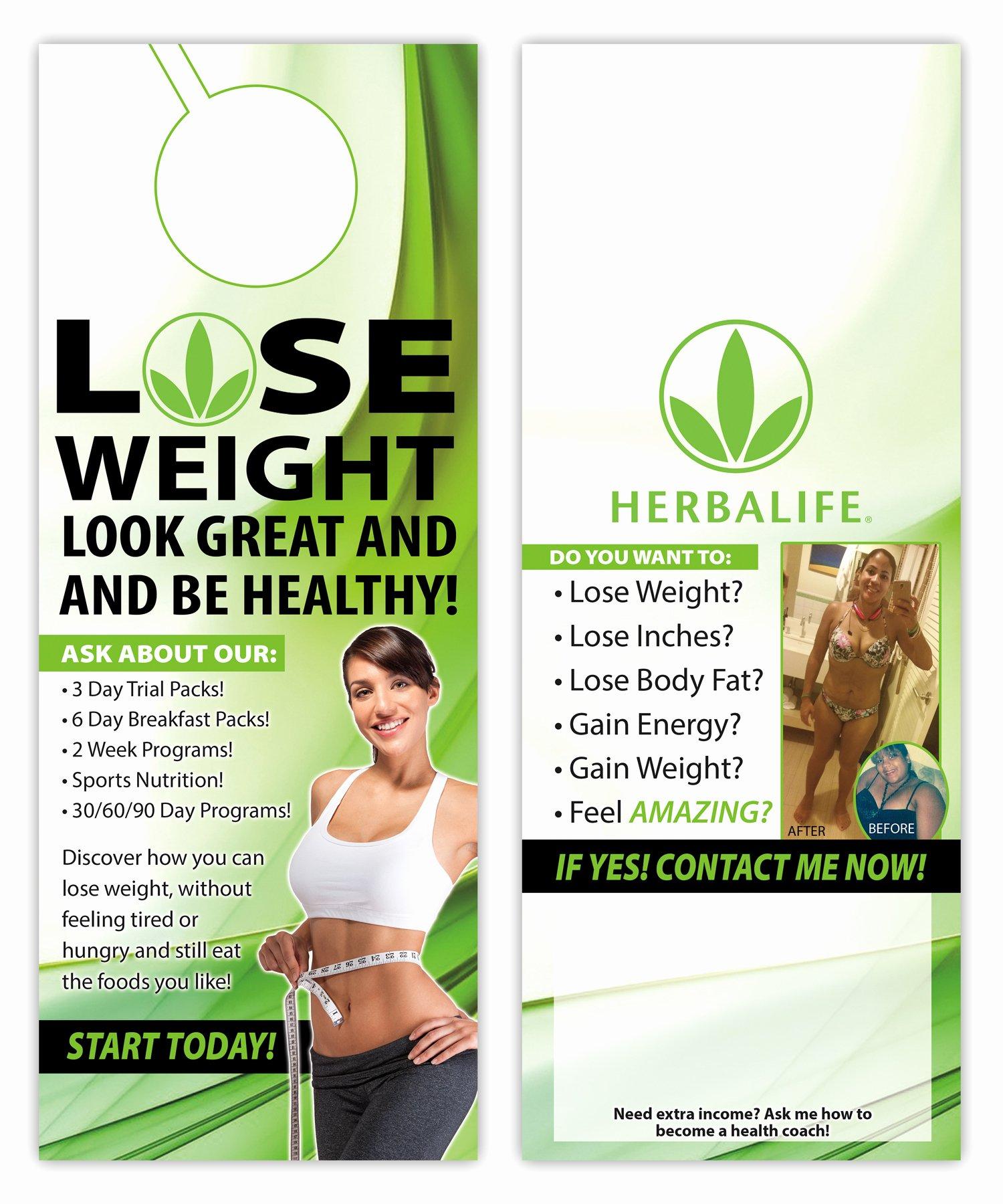 Herbalife Flyers Template Best Of Herbalife Door Hanger 4 5x11 2 Sided · Kz Creative