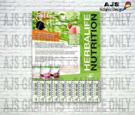 Herbalife Flyers Template New Custom Print Ready Herbalife Contact Flyer • Herbalife