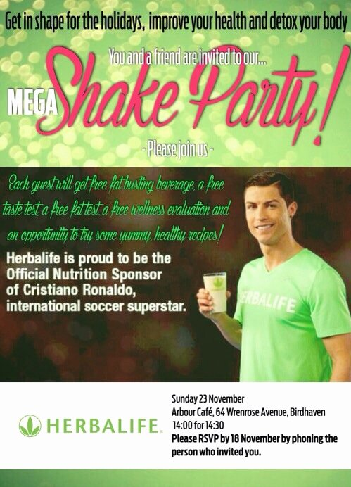 Herbalife Shake Party Awesome November 2013 events