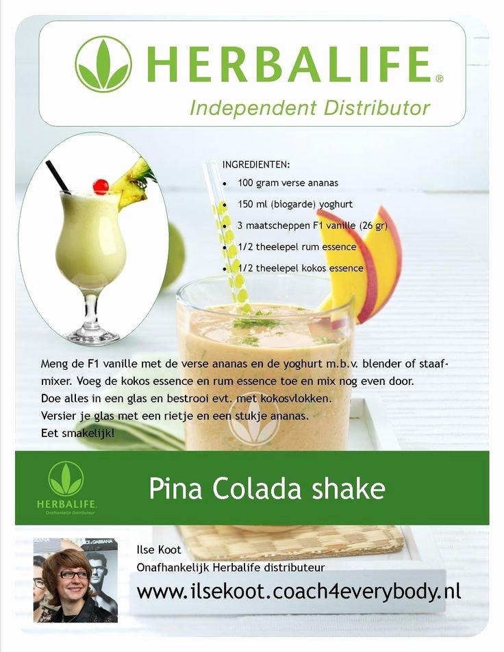 Herbalife Shake Party Luxury Pina Colada Shake Herbalife