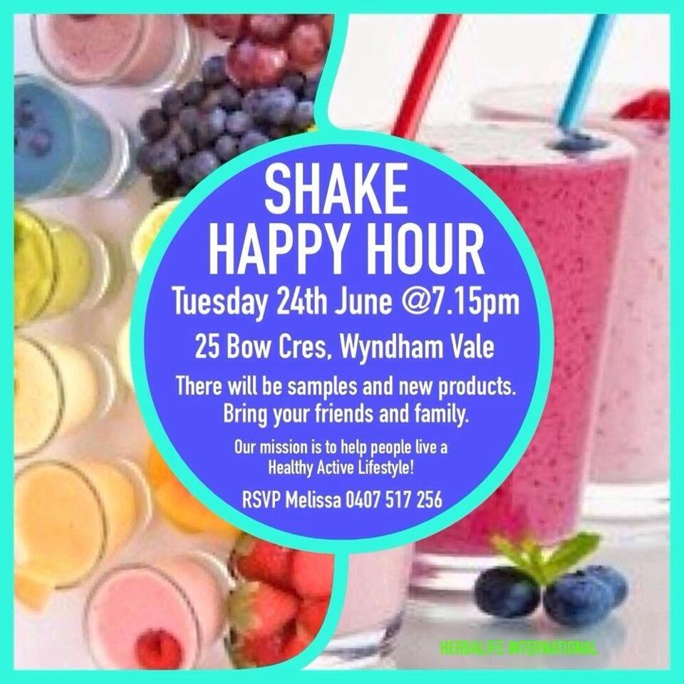 """Herbalife Shake Party New Werribee Fit Club On Twitter """"shake Party Happy Hour"""