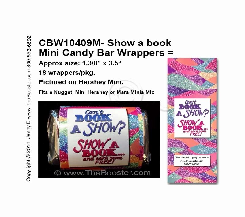 Hershey Bar Wrapper Dimensions Awesome Cbw M Show A Book Mini Candy Bar Wrappers From
