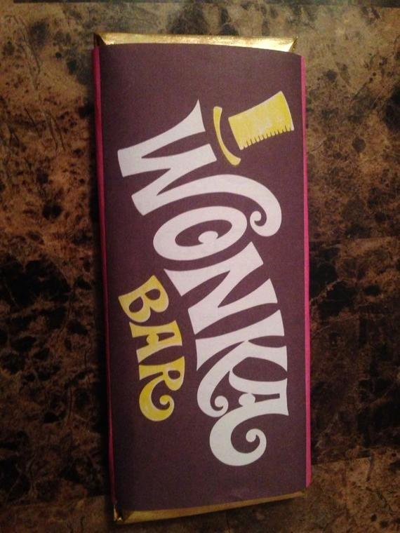 Hershey Bar Wrapper Dimensions Beautiful Willy Wonka Full Size Candy Bar Wrapper and Contract
