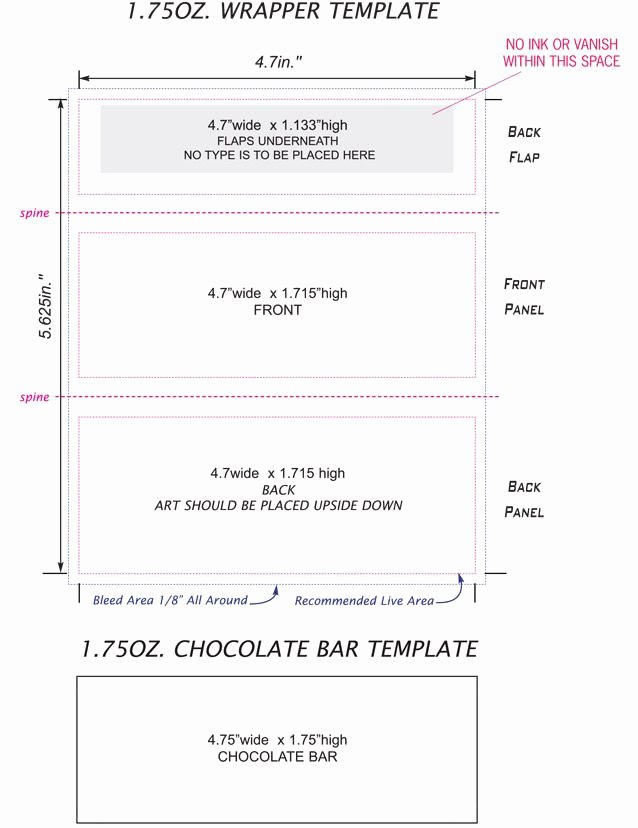 Hershey Bar Wrapper Dimensions Inspirational Candy Bar Wrappers Template Google Search