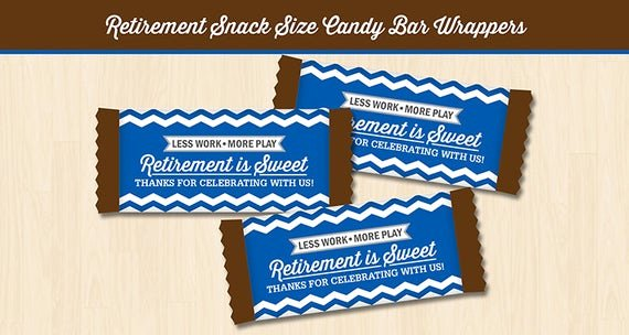 Hershey Bar Wrapper Dimensions Lovely Retirement Snack Size Candy Bar Wrapper Printable Digital