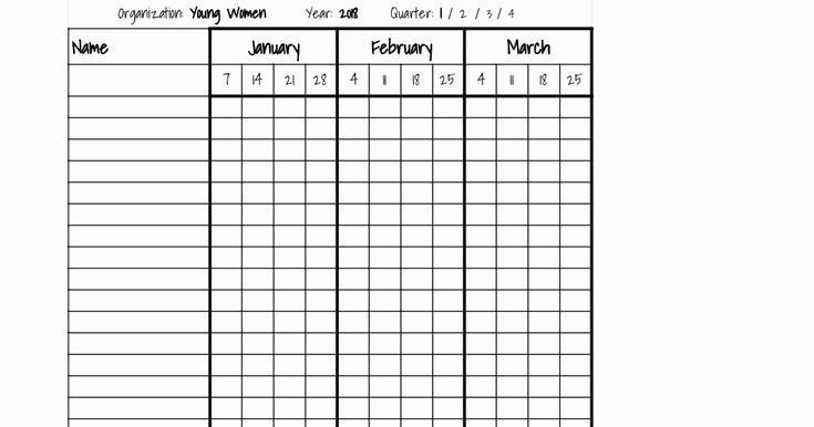 attendance sheet in excel
