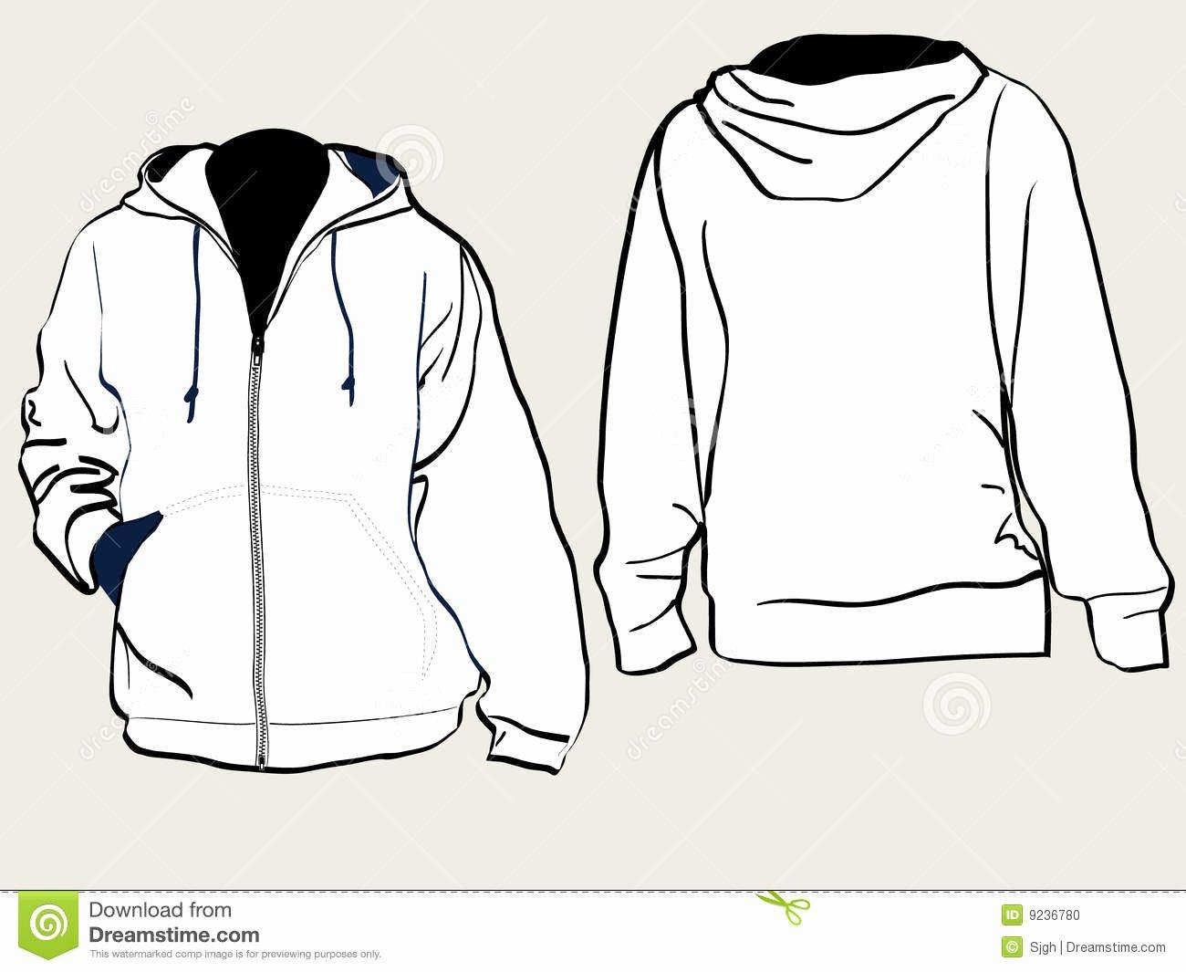 Hooded Sweatshirt Template Beautiful Hooded Sweat Shirt Stock Vector Image Of Long Hood