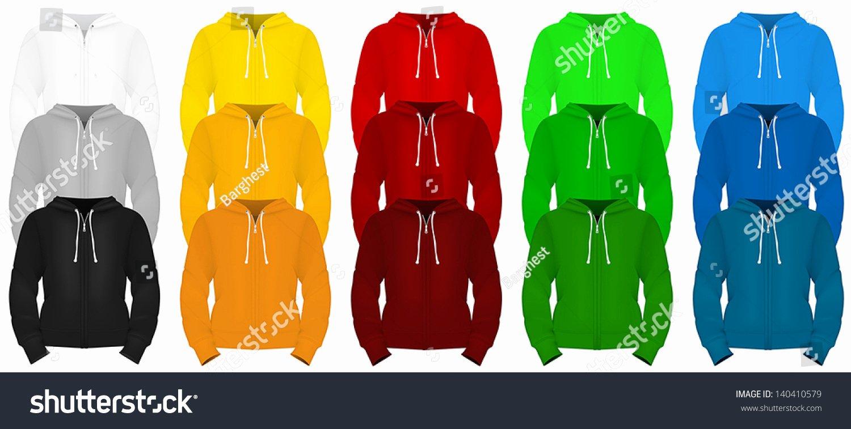 Hooded Sweatshirt Template Inspirational Plain Long Sleeve Hooded Sweatshirt Template Stock Vector