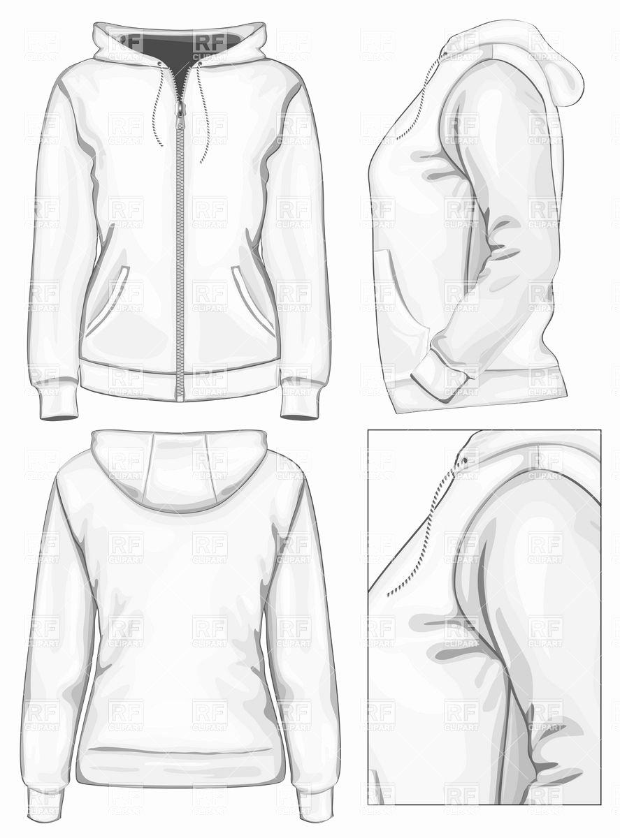 Hooded Sweatshirt Template Inspirational Women S Hooded Sweatshirt with Zipper Beauty Fashion