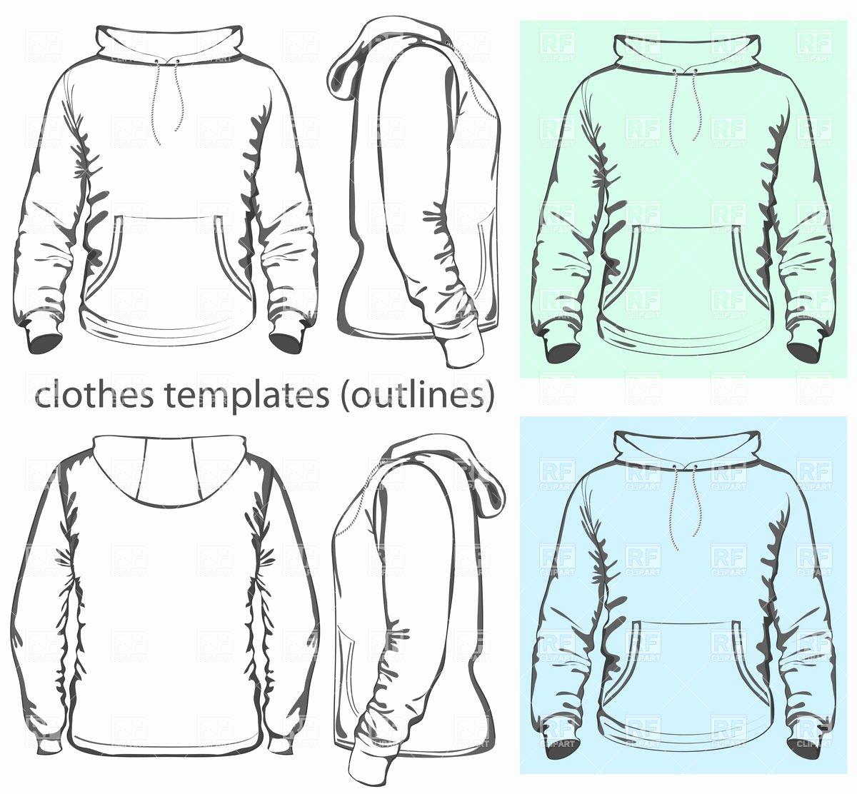Hooded Sweatshirt Template Lovely Men S Hooded Sweatshirt Template with Pocket On Belly