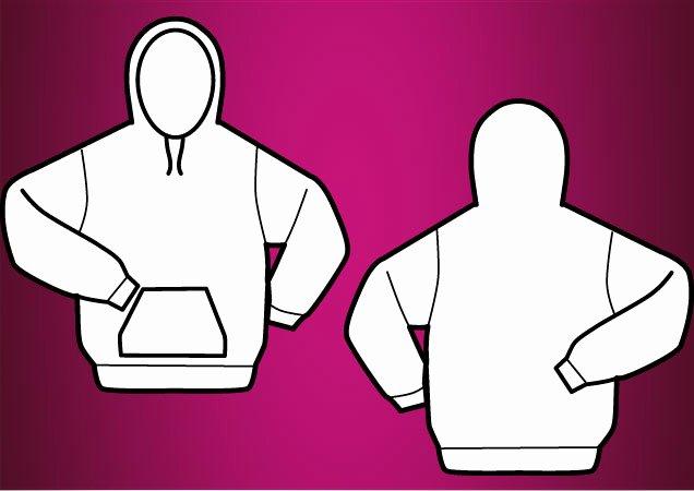 Hooded Sweatshirt Template Luxury Hooded Vector T Shirt Template