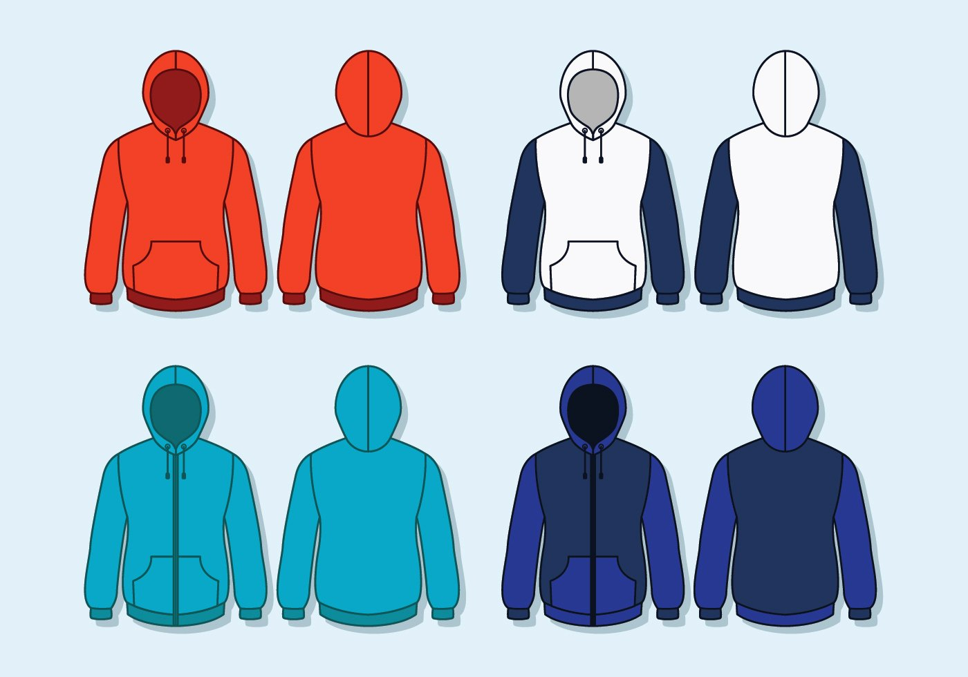 Hooded Sweatshirt Template Unique Capuz Free Vector Art 169 Free Downloads