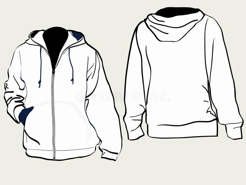 Hooded Sweatshirt Template Unique Hooded Sweat Shirt Stock Image