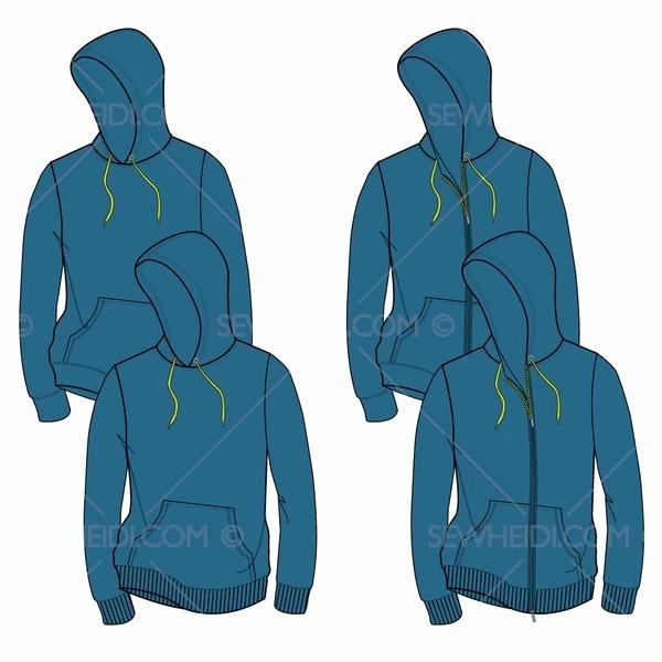 Hooded Sweatshirt Template Unique Men S Hooded Sweatshirt Fashion Flat Template