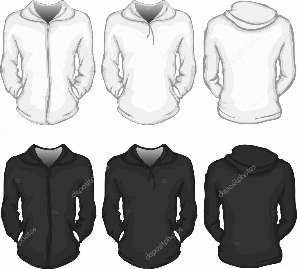 Hooded Sweatshirt Template Unique Women S Hoo Shirt Template — Stock Vector © Airdone