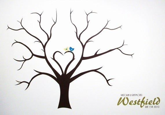 How to Draw A Simple Tree without Leaves Awesome Guest Tree Book Alternative Reception Project Wedding