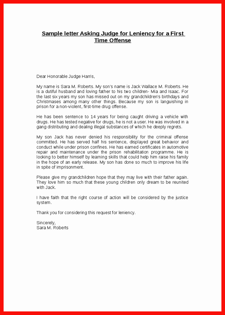 How to Write A Letter to A Judge Template Elegant Letter format to A Judge