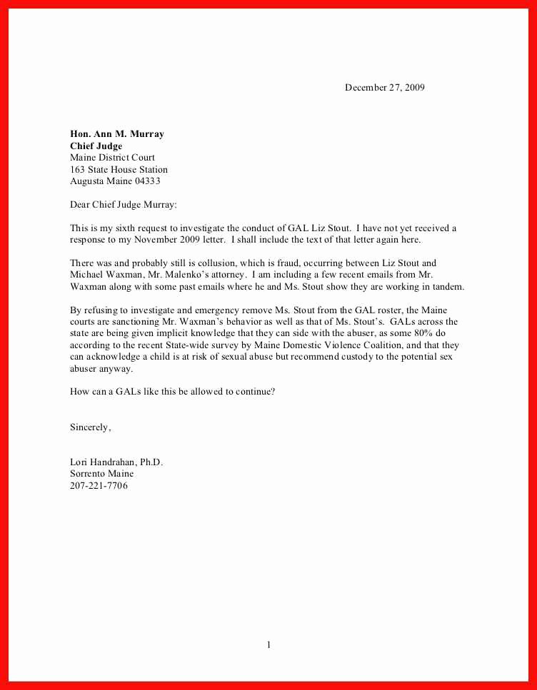 How to Write A Letter to A Judge Template Fresh Letter format to A Judge