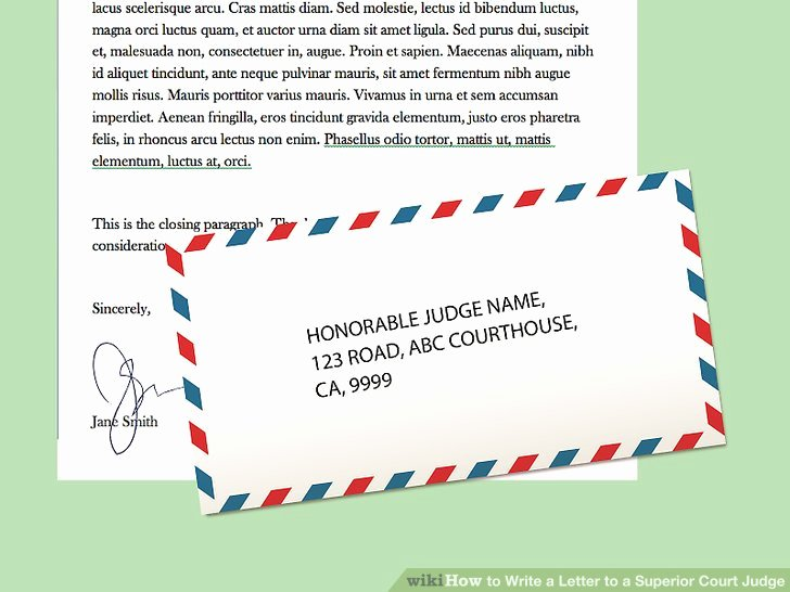How to Write A Letter to A Judge Template Lovely How to Write A Letter to A Superior Court Judge 15 Steps