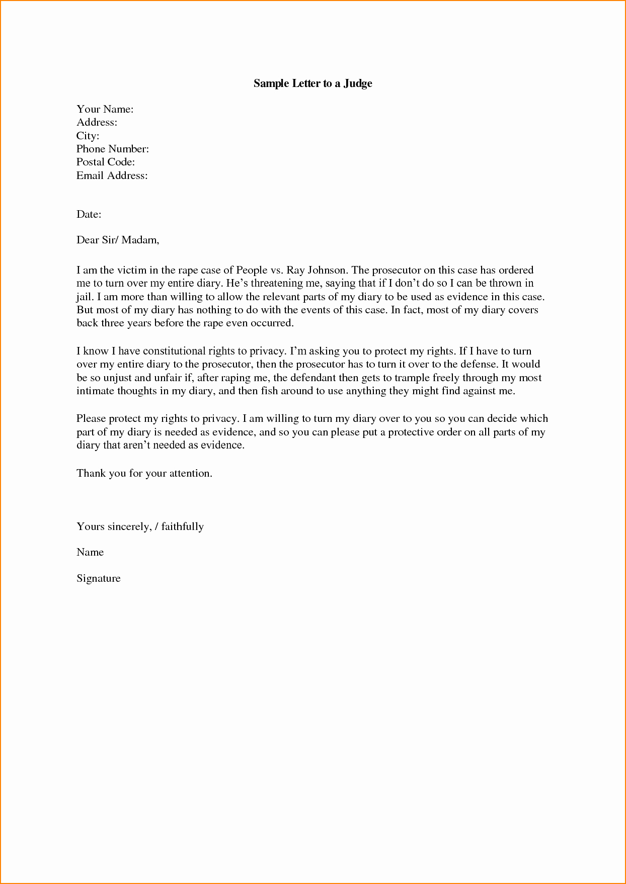 how to address a letter to a judge 2