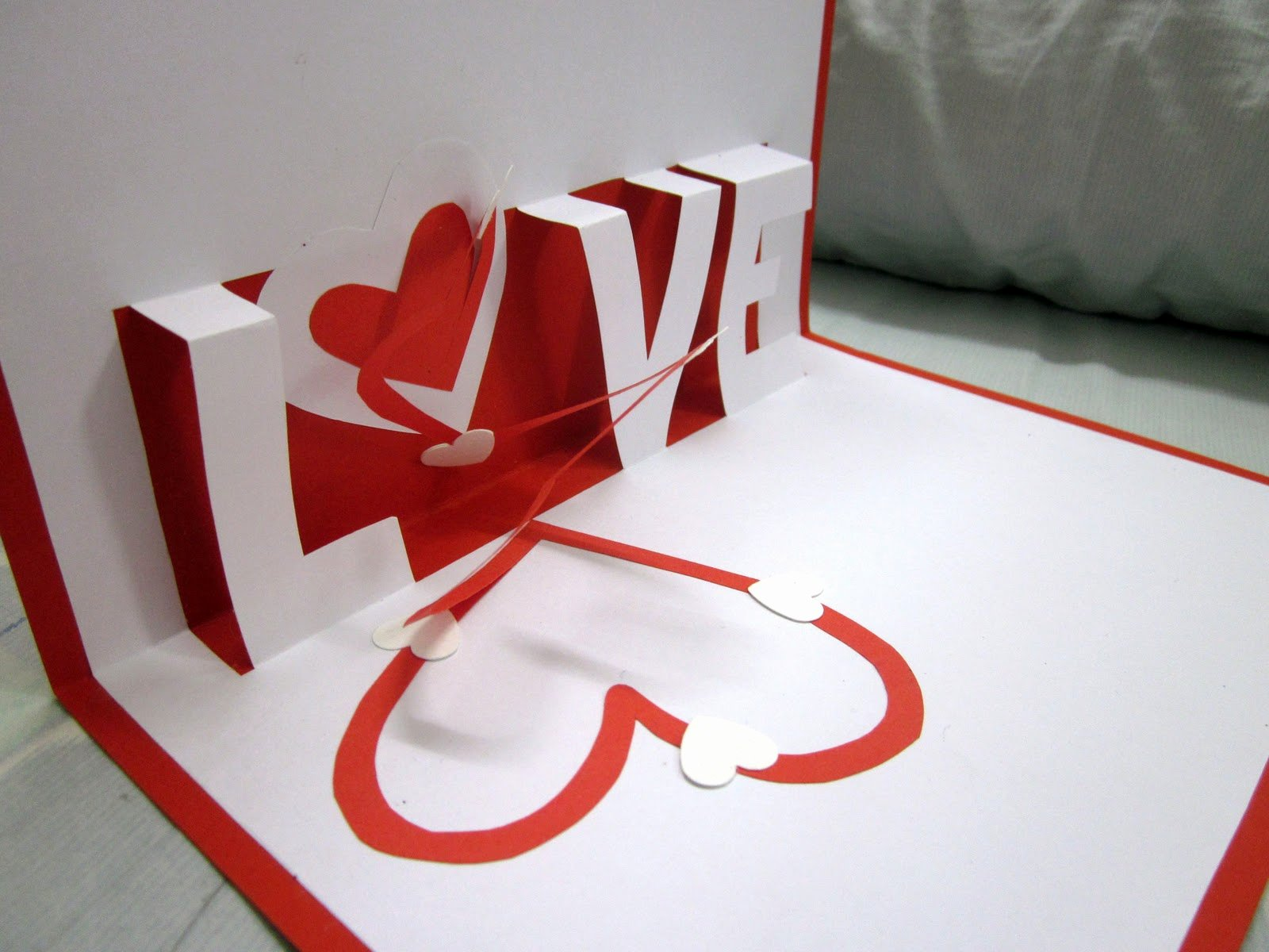 valentine day pop up cards
