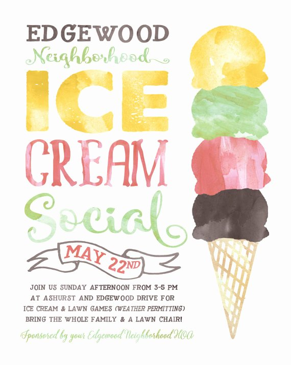 Ice Cream social Flyer Template Awesome Ice Cream social Flyer Ktunesound