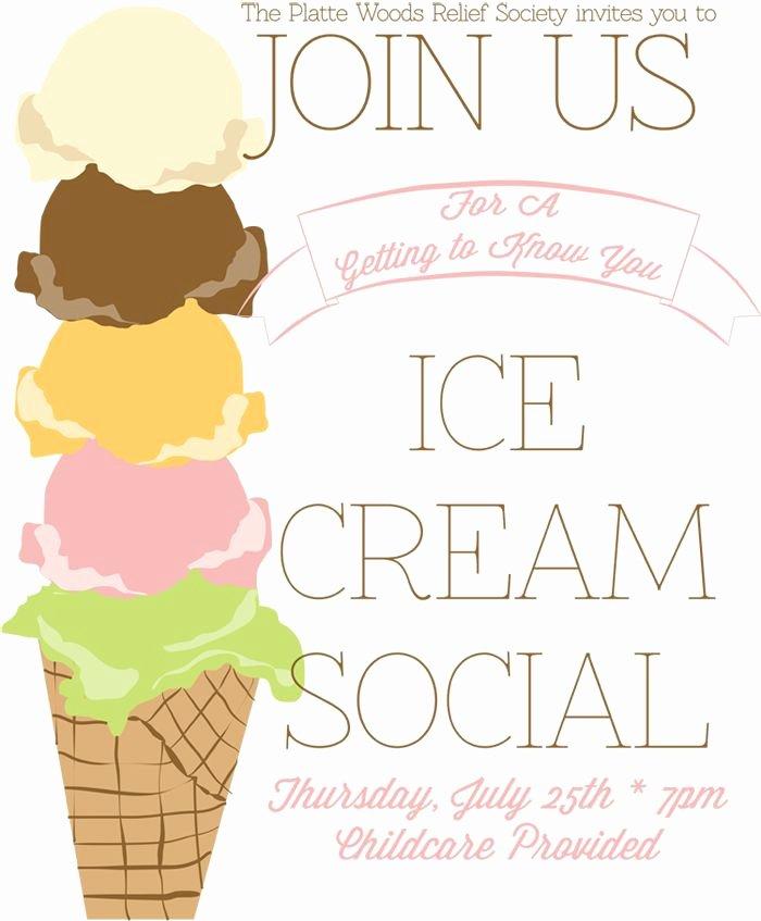 Ice Cream social Flyer Template Awesome Ice Cream social Poster Pta Ideas