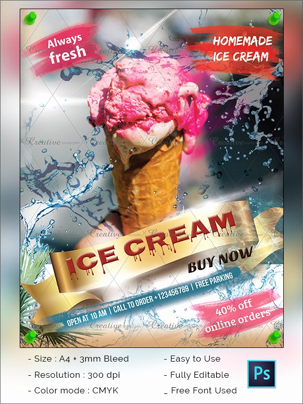 Ice Cream social Flyer Template Best Of 41 Ice Cream Flyer Templates Free & Premium Download