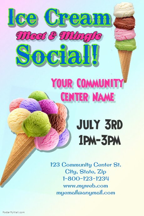 Ice Cream social Flyer Template New Ice Cream social Template