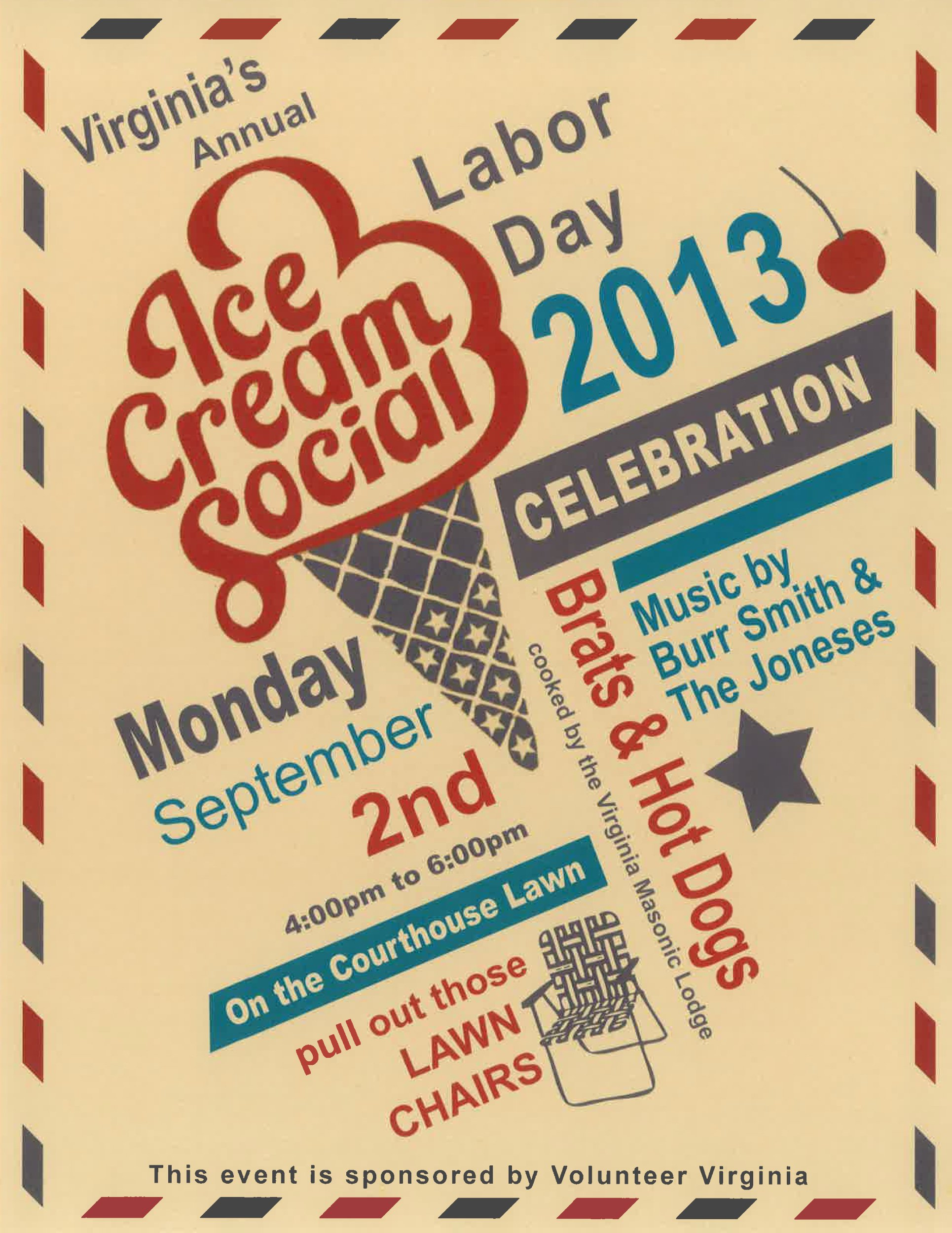 Ice Cream social Flyer Template New Labor Day 2013 Flyer
