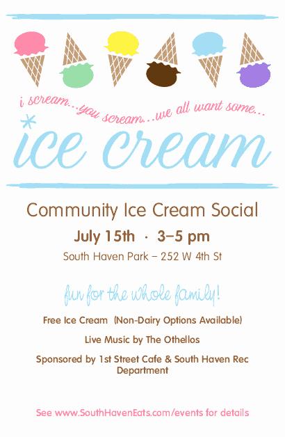 Ice Cream social Flyer Template Unique Ice Cream social Flyer