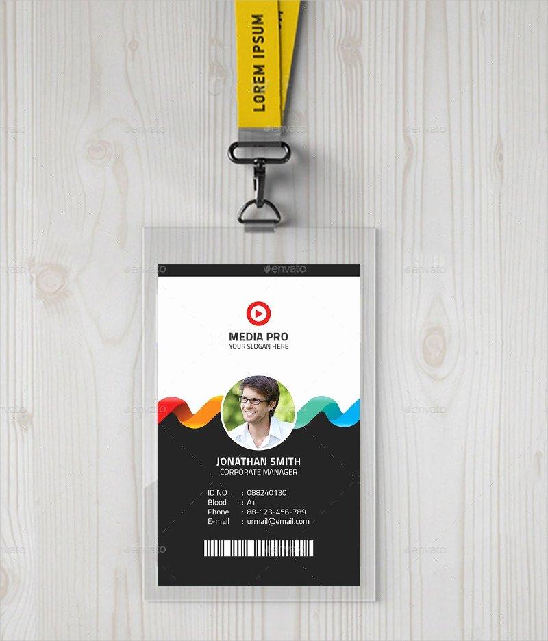Id Card Template Photoshop Beautiful 40 Creative Id Card Designs Psd Ai