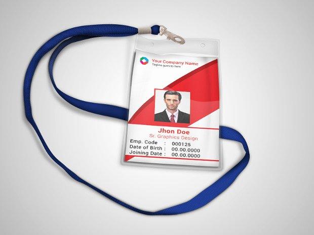 id card psd template