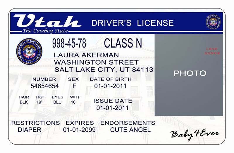 Id Card Template Photoshop Best Of This is Utah Usa State Drivers License Psd Shop