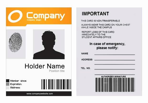 Id Card Template Photoshop Luxury Pany Id Template Psd Xonekdesign