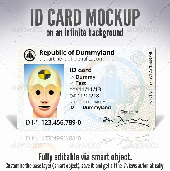 Id Card Template Photoshop New Id Card Template 19 Download In Psd Pdf Word