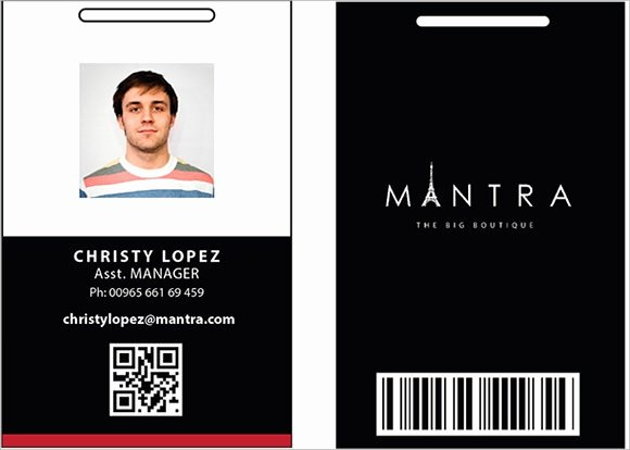 Id Card Template Photoshop Unique 36 Amazing Id Card Templates Ai Word Apple Pages