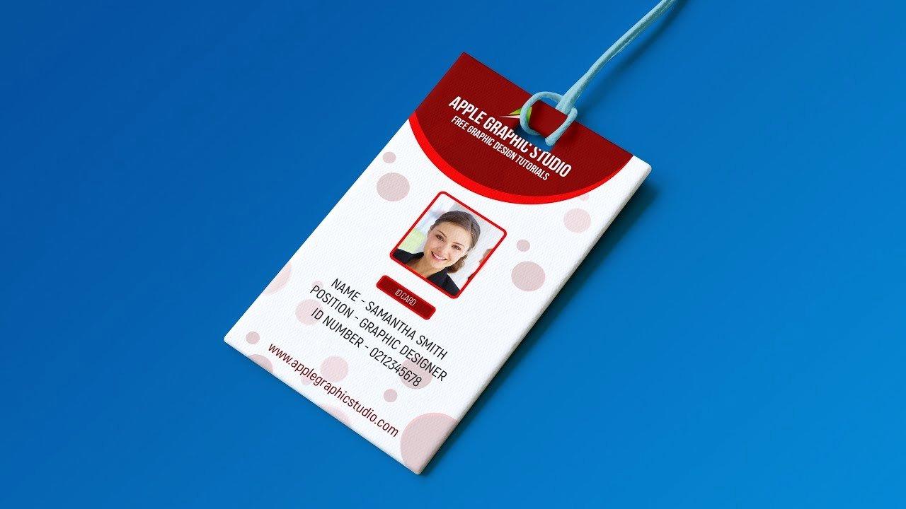 Id Card Template Photoshop Unique Create Professional Id Card Template Shop Tutorial