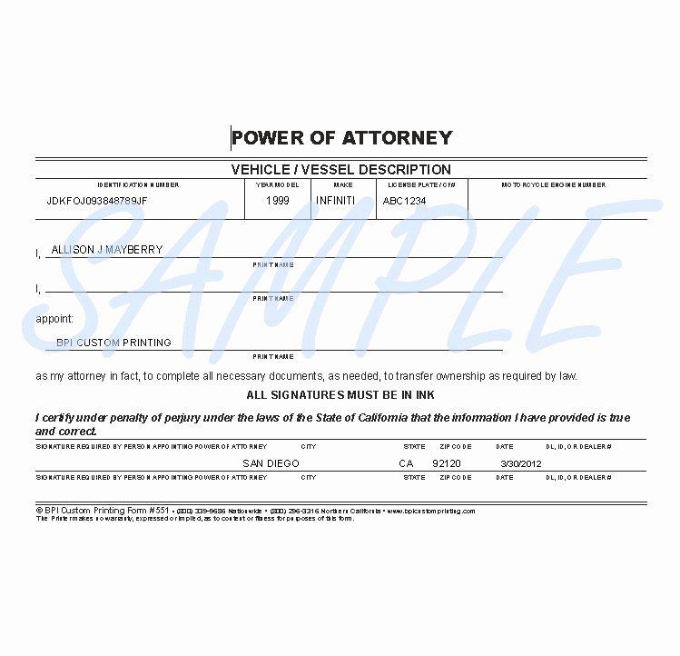 Indiana Bmv Power Of attorney Beautiful Ohio Bureau Motor Vehicles Power attorney form