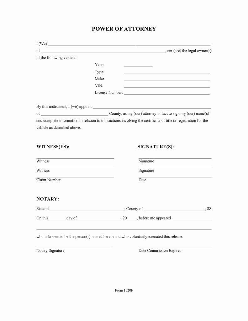 Indiana Bmv Power Of attorney New Inspirational Kentucky Dmv forms Title Transfer Models