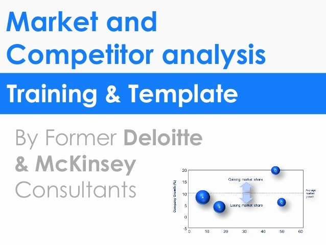 market petitor analysis template in ppt