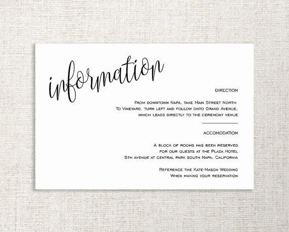wedding enclosure card details card