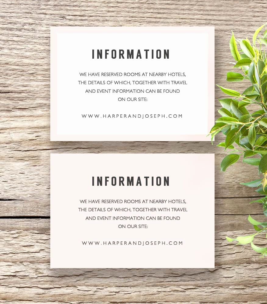 Info Card Template Fresh Bettie Printable Wedding Invitation Template Set Connie