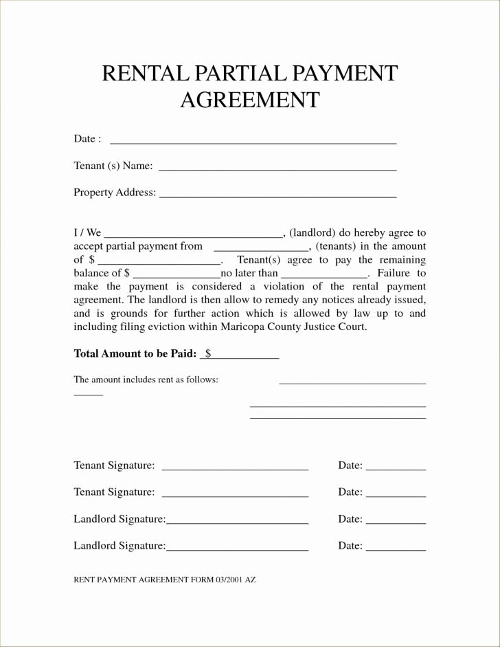 partial payment installment agreement form