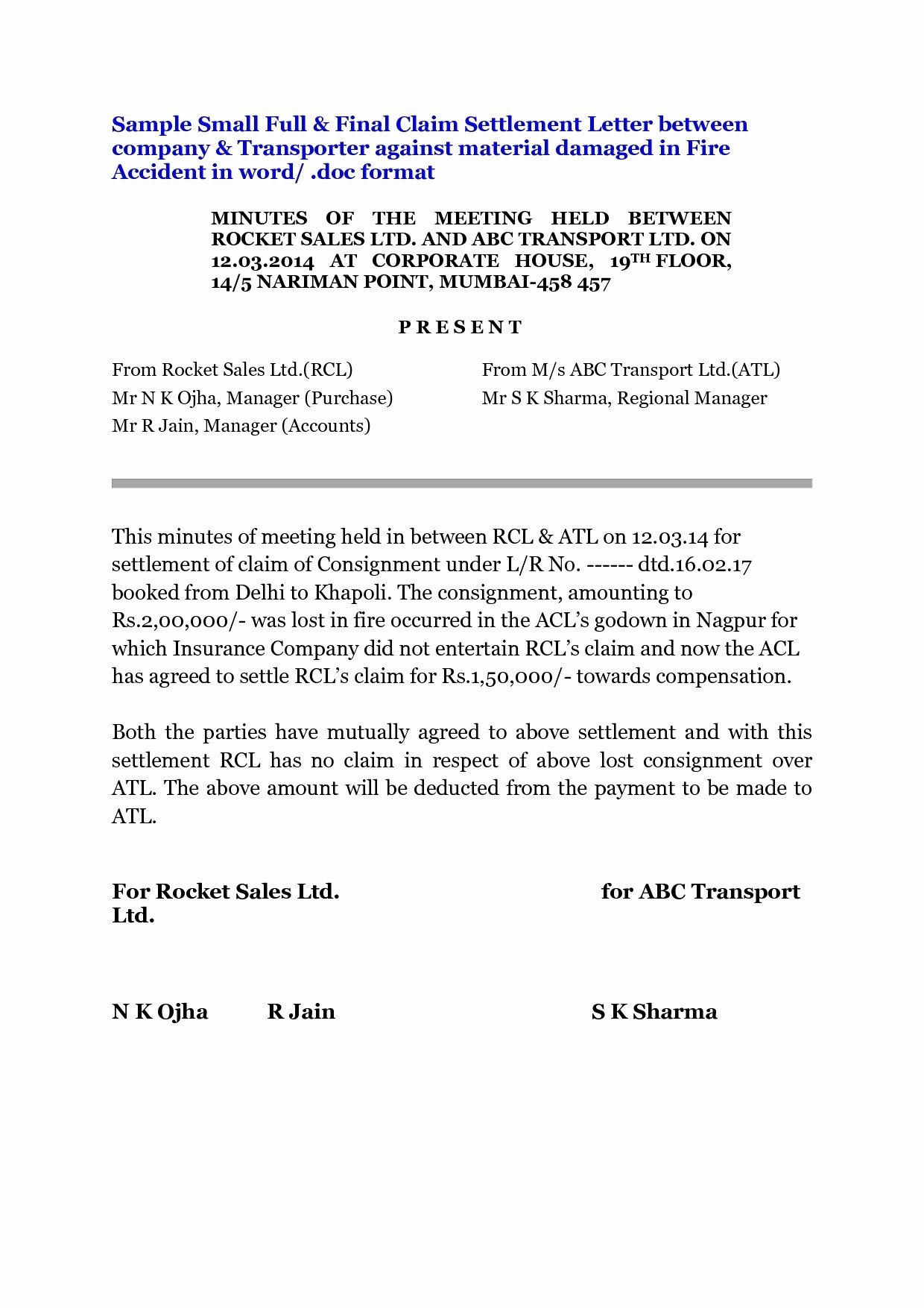 Insurance Demand Letter Luxury Letter Subrogation Special Power attorney format