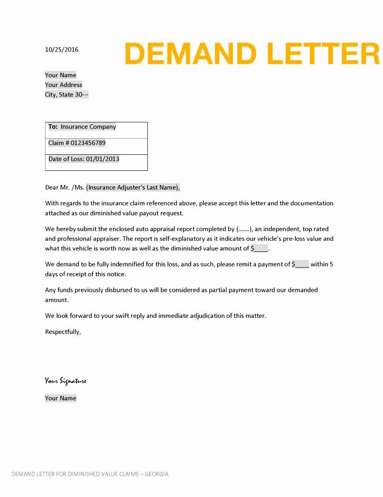 insurance demand letter template