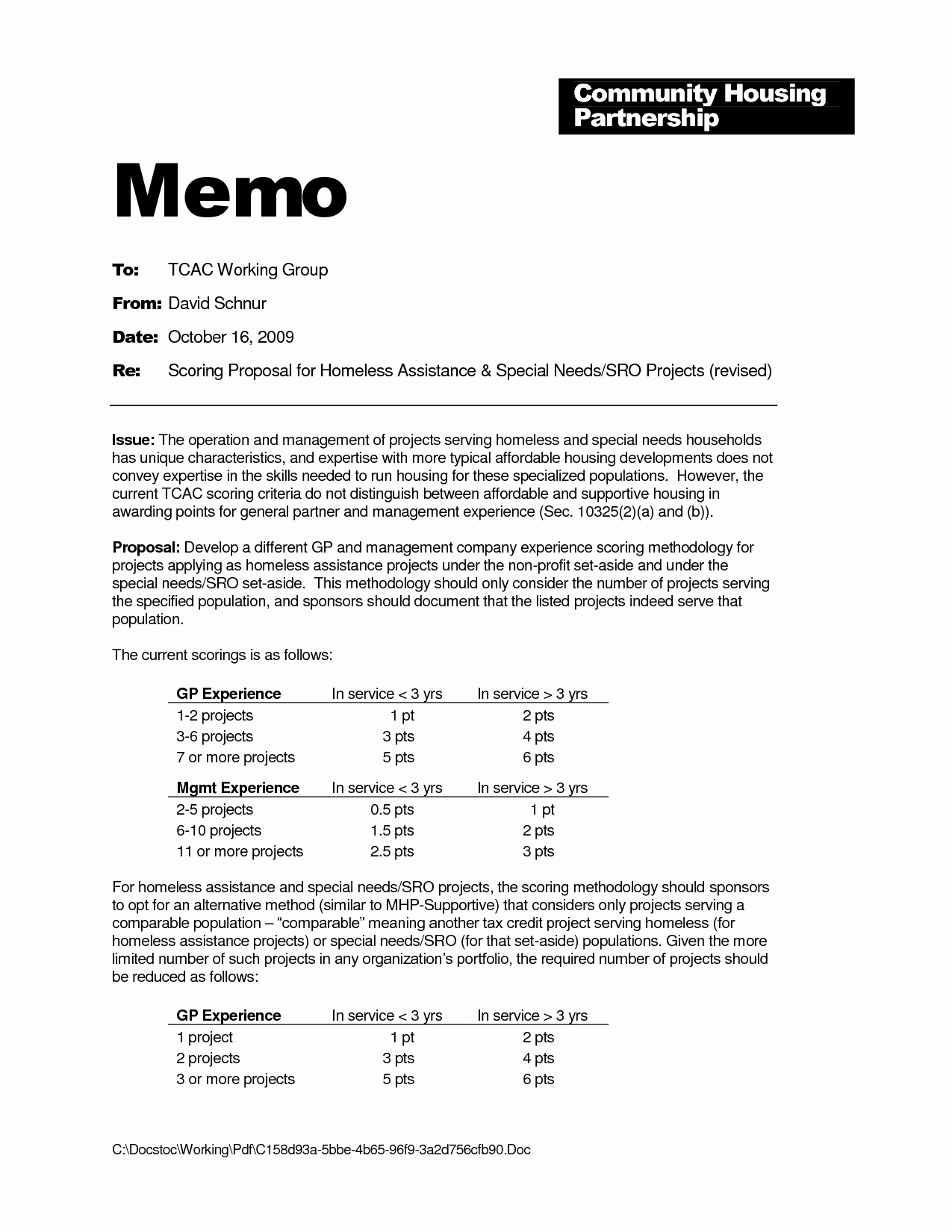 post project management memo template