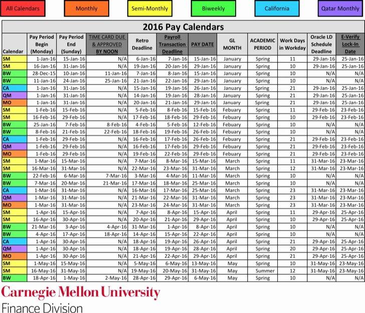payroll calendar templates
