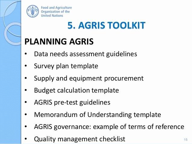 agricultural integrated survey agris rationale and methodology